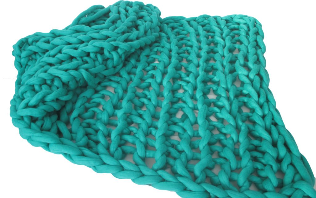 how to arm knit a blanket tutorial