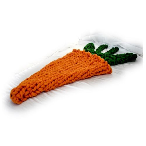 arm knitted carrot blanket