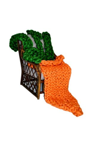 merino wool carrot blanket