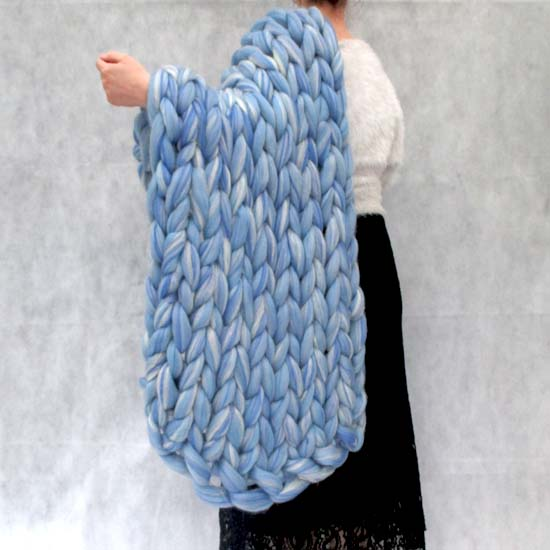 arm knitted baby blanket