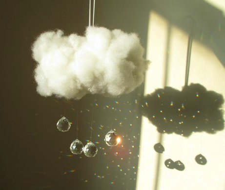 wool cloud suncatcher and nightlight