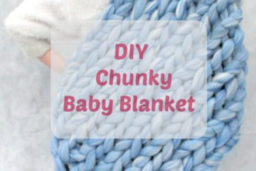 diy super chunky knitted baby blanket