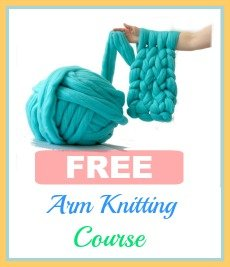 How much Yarn to Arm Knit a Blanket, Full Chart Included Here