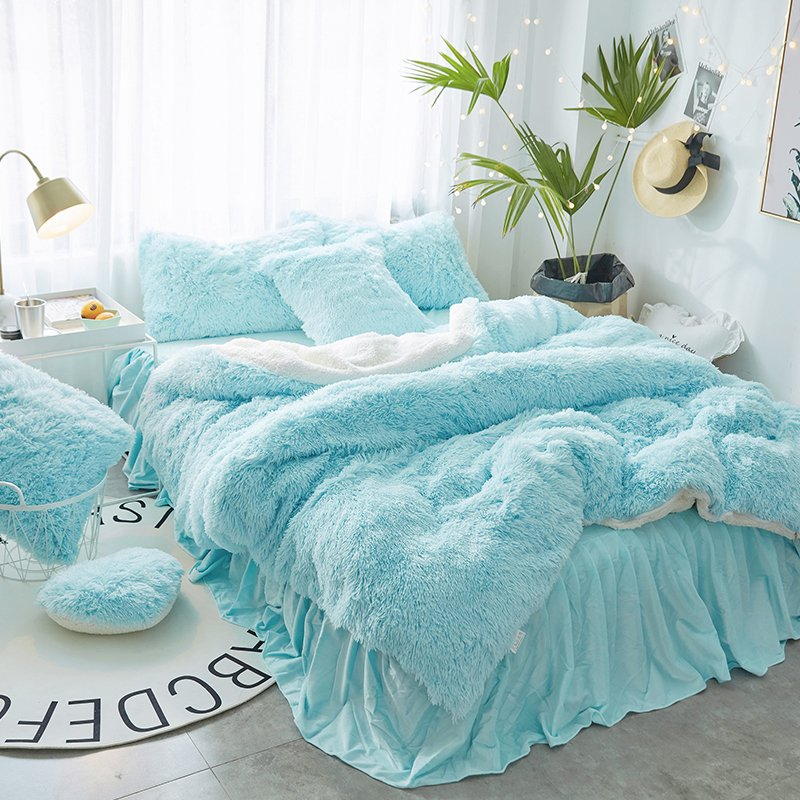 Faux Fur Winter Bedding Set 7 Colors Available Truly Majestic