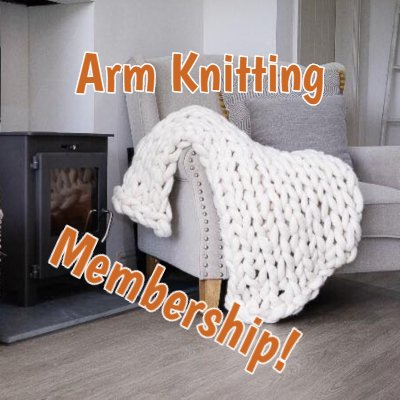 arm knitting, becozi, ohhio, hand knitting