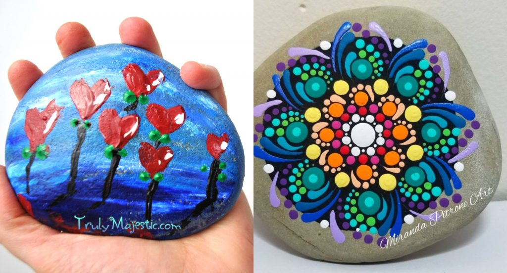 free stone painting tutorials
